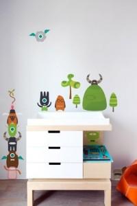 Babybot Blik Build-a-bot Surface Art Sticker