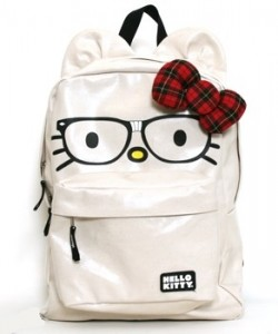 Hello Kitty Backpack Bag - Nerdy Face and Bow