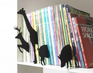 Cute Animal Felt Book Shelf Divider