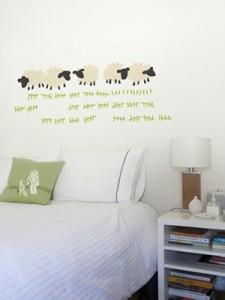 Counting Sheep with the Threadless Wall Sticker