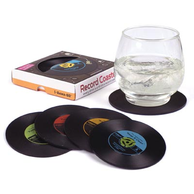 Vinyl Record Coasters by Gama-Go