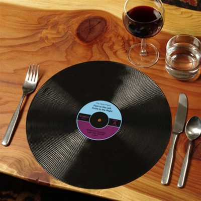 Vinyl Record Placemats by Gama-Go