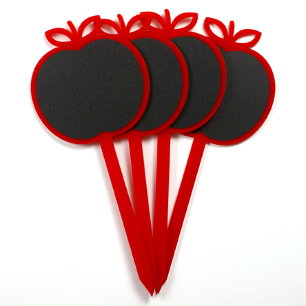 Apple Chalkboard Garden Stakes by Candy Stripe Cloud