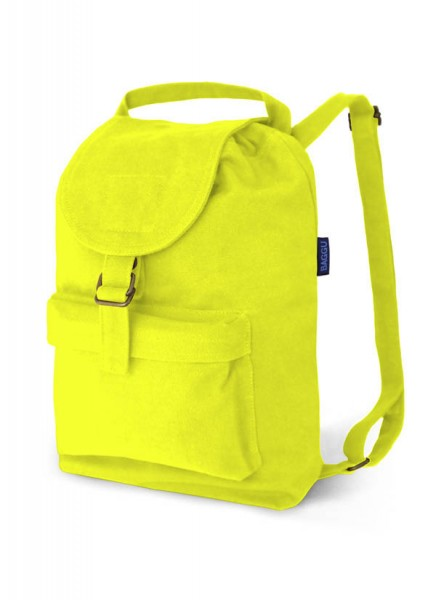 Bright Neon Yellow Canvas Backpack by Baggu