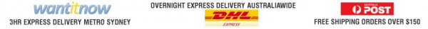 Express Shipping by WantItNow & DHL