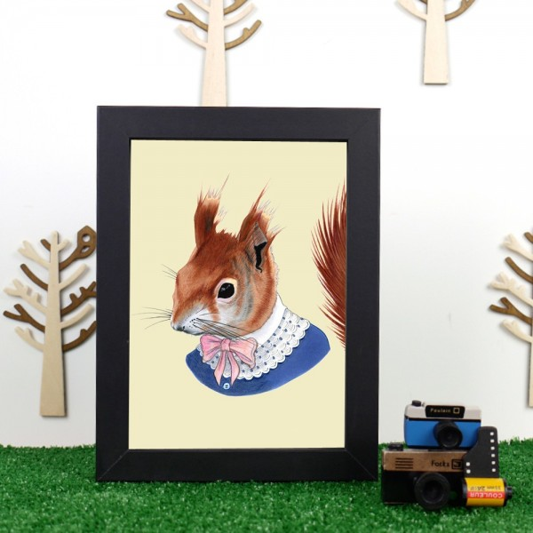 Well Dressed Red Squirrel by Ryan Berkley