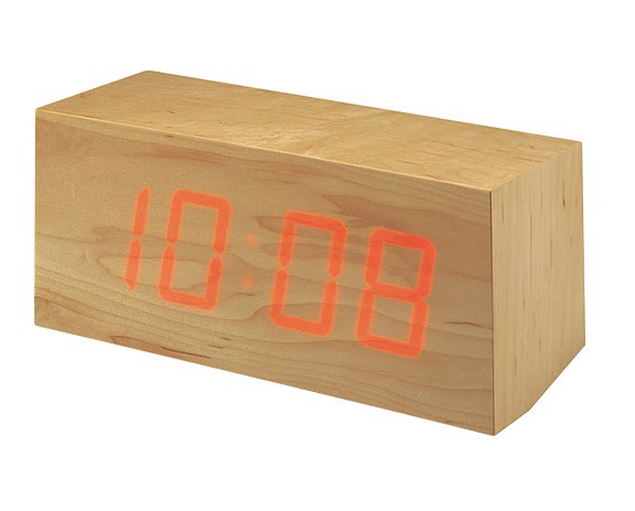 TOCA Wood Clock - LED Lights Shine Through Wooden Block!