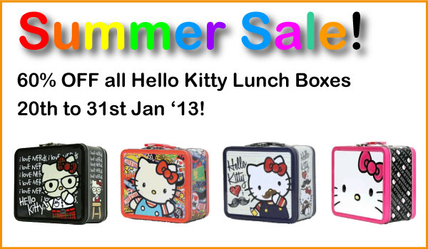 Hello Kitty Lunch Boxes - January 2013 Back to School Sale