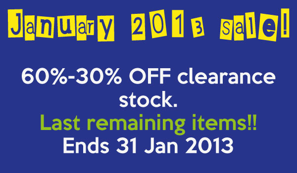 Urbanities January Sale 2013 - Discounted Gifts & Homewares