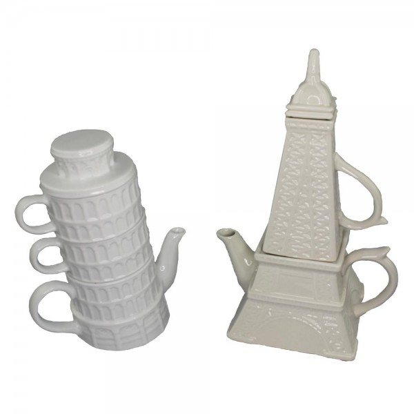 Pisa and Eiffel Tea Sets