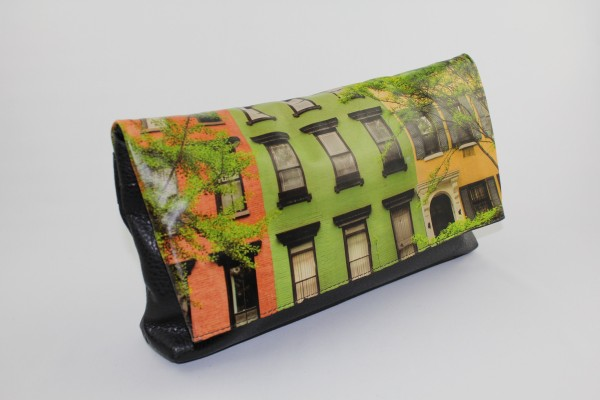New York Terraces Leather Clutch - Womens Bag