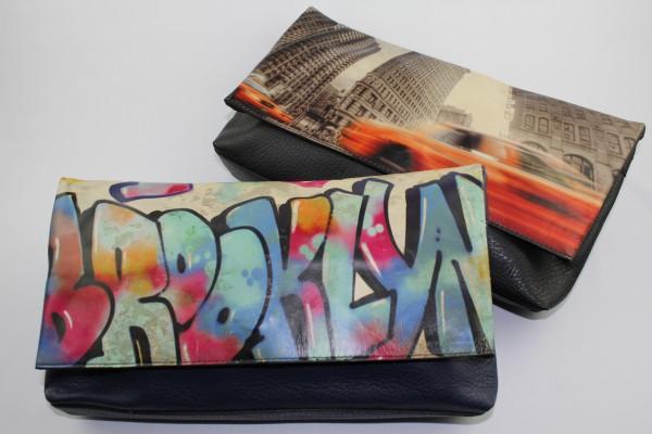 Brooklyn Graffiti Photo Clutch & New York Cabs Photo Clutch