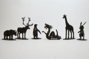 animal cardboard figurines