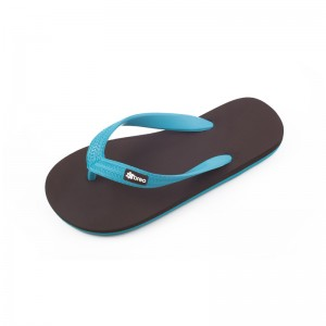 Eco-Friendly Breo Thongs Brown-Blue Colour