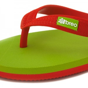 Eco-friendly Breo Thongs Green-Red