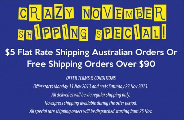 Urbanities November 2013 $5 Shipping Special