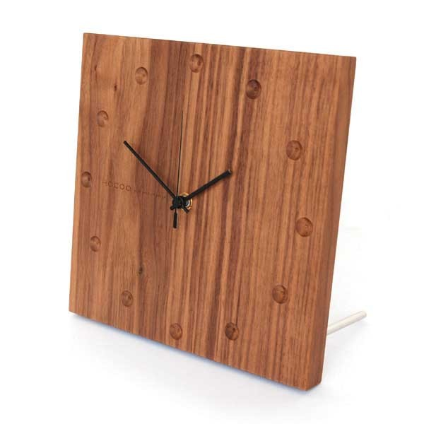 Hacoa Wooden Wall Clock in Walnut Wood