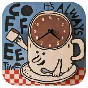 Popclox Coffee 3D Art Clock by Art Thingys