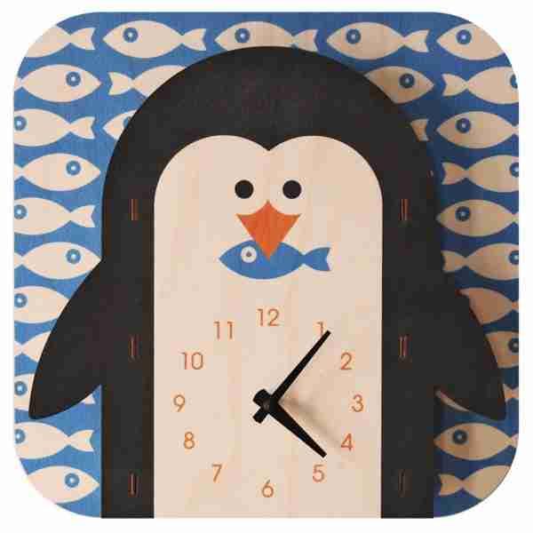 Popclox Penguin 3D Art Clock by Art Thingys