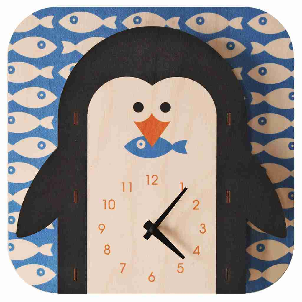 Popclox Penguin 3D Art Clock by Art Thingys