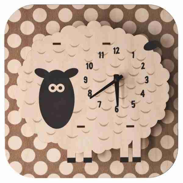 Popclox Sheep 3D Art Clock by Art Thingys