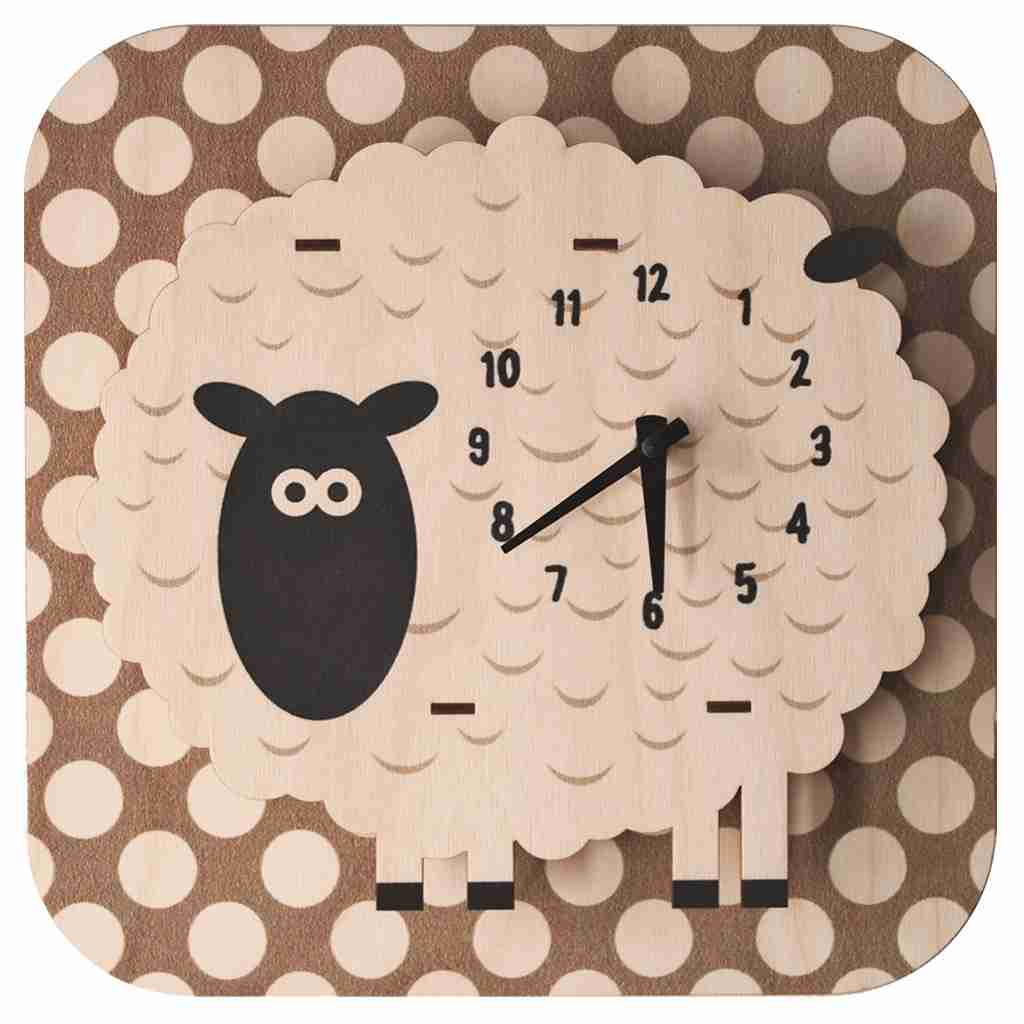 Popclox Sheep 3D Art Clock by Art Thingys