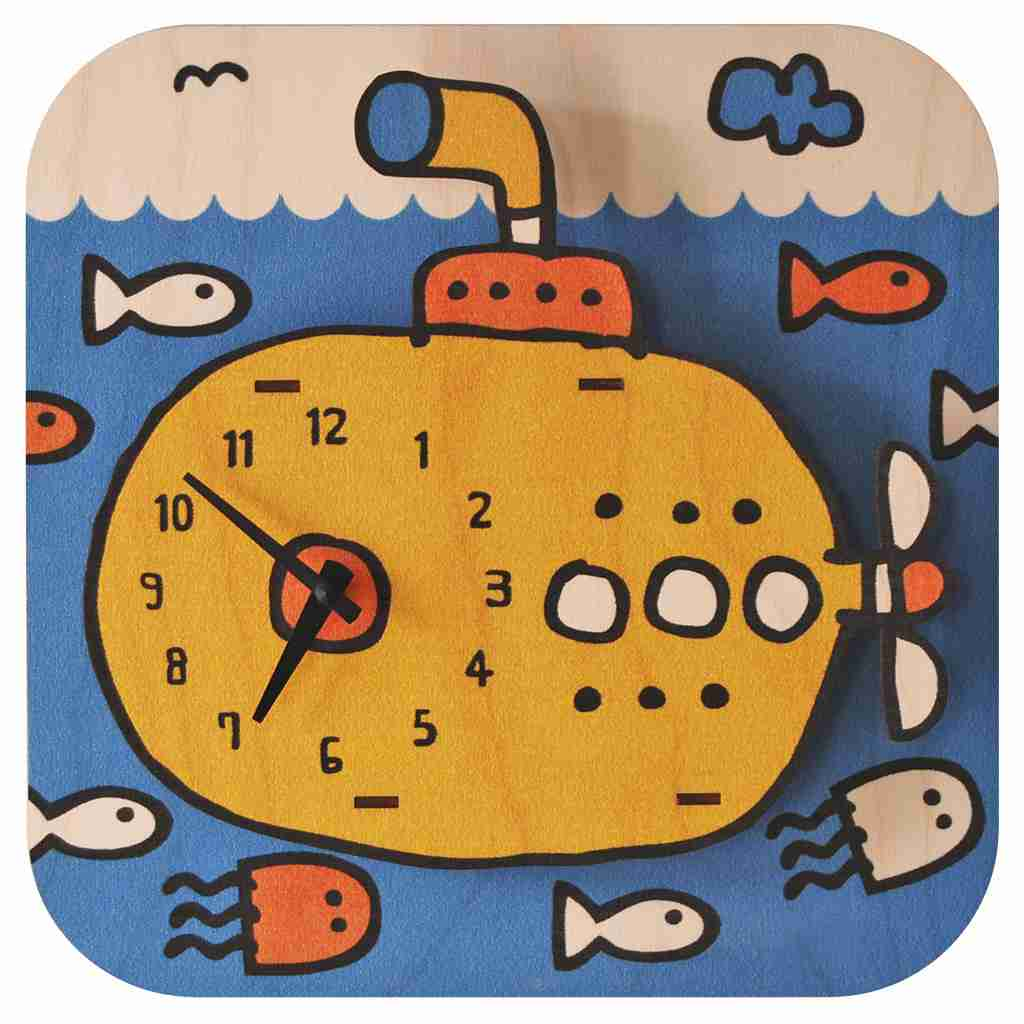 Popclox Submarine 3D Art Clock by Art Thingys