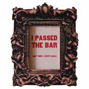 3D Frame Art I Passed the Bar by Art Thingys