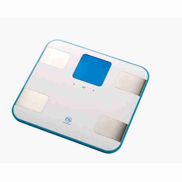 Belle Echell Sporty Multi-Function Body Analysis Scales - White Blue