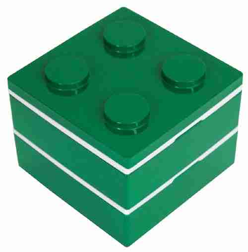Block Square Bento Lunch Box - Green