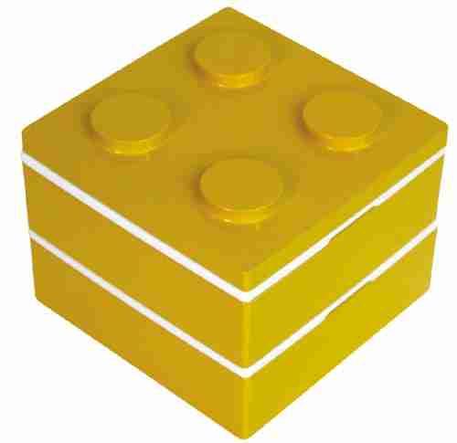 Block Square Bento Lunch Box - Yellow