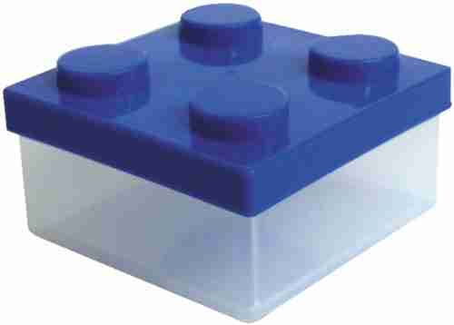 Block Clear Mini Lunch or Snack Box - Blue