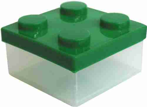Block Clear Mini Lunch or Snack Box - Green
