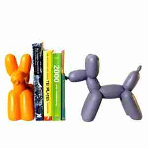 Big Top Balloon Dog Bookend in Orange