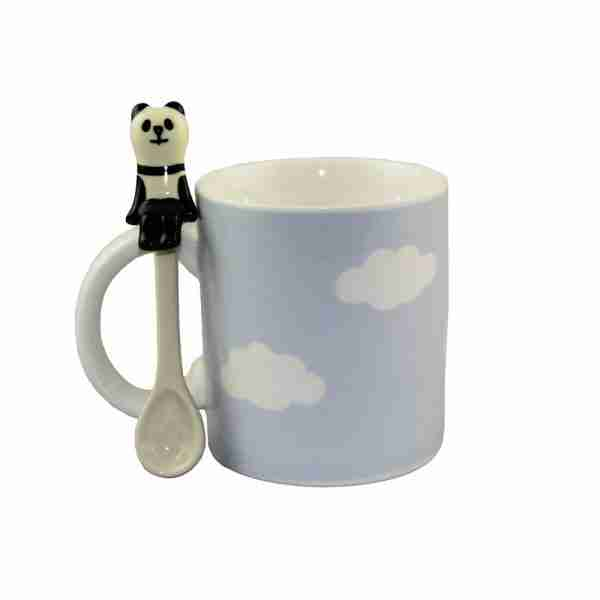 Concombre Cloud Mug & Spoon (Panda) by Decole