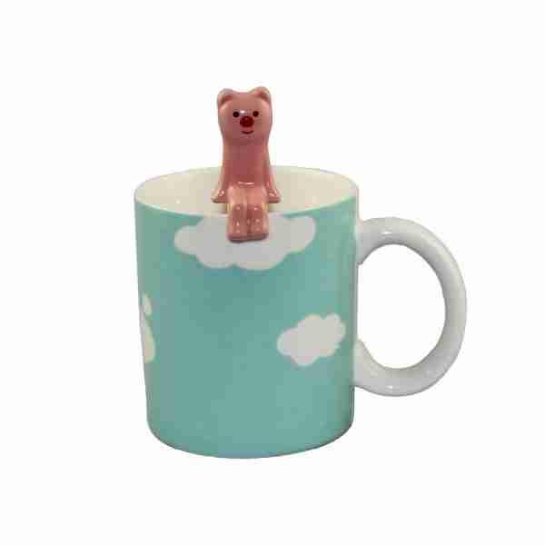 Concombre Cloud Mug & Spoon (Pig) by Decole