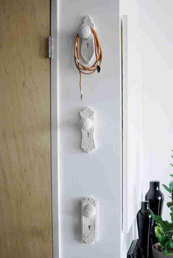 Mortise Style Doorknob Wallhooks Set of Three