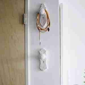 Mortise Style Doorknob Wallhooks Set of Three