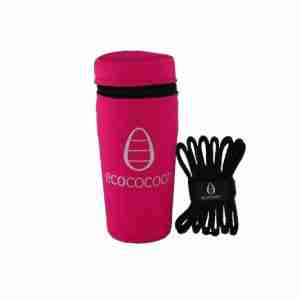 Ecococoon Stainless Steel Picnic Cups - Mythical with Fuchsia Cover