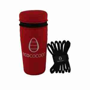 Ecococoon Stainless Steel Picnic Cups - Adventure with Red Cover
