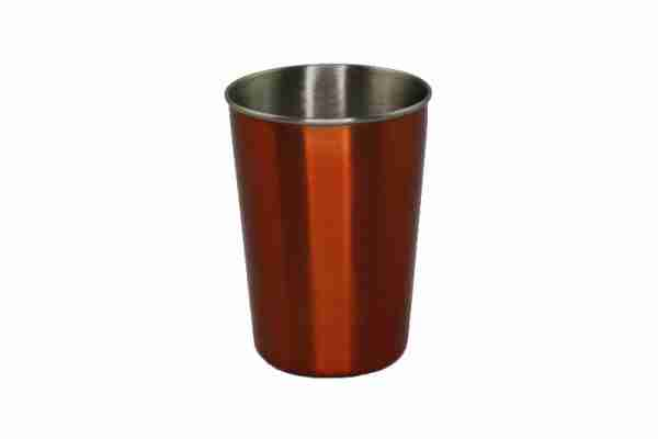 Ecococoon Stainless Steel Picnic Cups - Retro Disco with Orange Cover