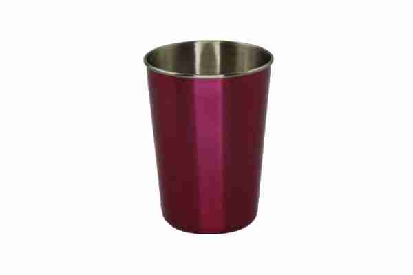 Ecococoon Stainless Steel Picnic Cups - 50s Diner with Purple Cover
