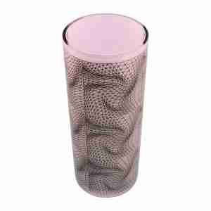"Elegant Egizia Luxury Homewares - Karim Rashid Vase ""Flexuos"" Frosted Glass"
