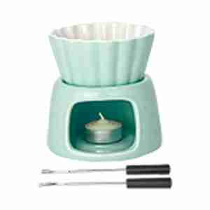 Mini Fondue Set in Mint Green by Kinto Japan