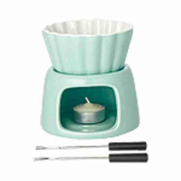 Mini Fondue Set in Mint Green by Kinto Japan