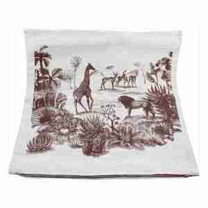 Hand Printed Linen Cushion 18in by 18in - Safari Tan