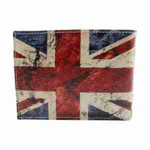 Union Jack Soft Leather Pop Wallet by Studio Manhattan