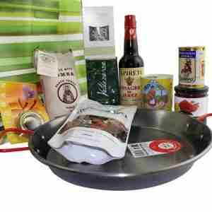 Gourmet Food Hamper - Spanish Paella Set with Pan