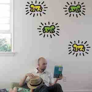 Keith Haring Little Radiant Baby Wall Sticker / Decal in Kiwi/Lemon