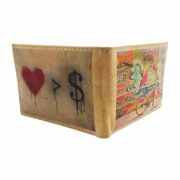 Love Not War Thin Leather Wallet by Studio Manhattan